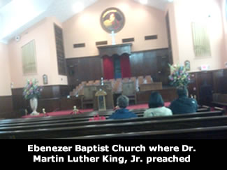 Ebenezer Baptist Church where Dr. Martin Luther King, Jr. preached