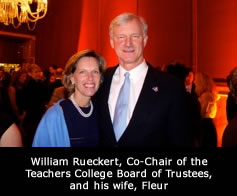 William Rueckert, Co-Chair of the Teachers College Board of Trustees, and his wife, Fleur