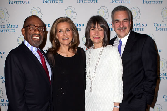(L-R) Al Roker, Meredith Vieira, Brooke Garber Neidich, Board Chair, Child Mind Institute and Dr. Harold Koplewicz, President, Child Mind Institute