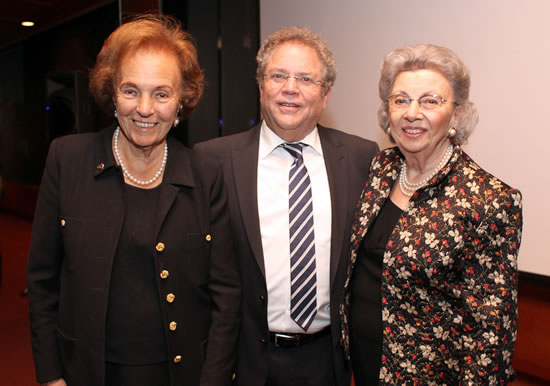 (L-R) Dr. Charlotte Frank, Zvi Peleg, Director General, Israel Sci Tech Schools Network, Edith Everett