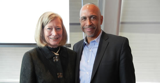 Dean Mary Brabeck and Professor Pedro Noguera