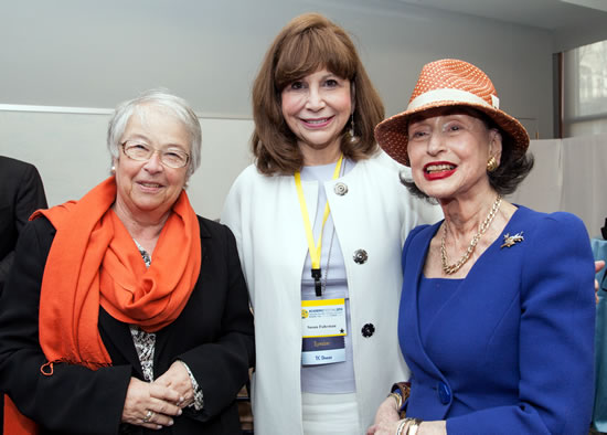 (L-R) Carmen Fariña, Chancellor of NYC Deparment of Education, Susan Fuhrman, President, Teachers College, Phyllis Kossoff