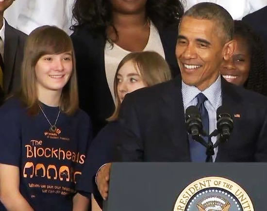 Julianna Jones and President Obama