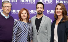 Lin-Manuel Miranda Asks Bill and Melinda Gates Tough Questions at Hunter