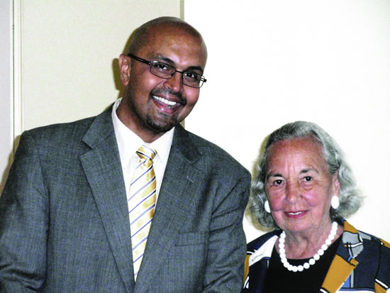 Professor Anand Marri and Founder Joyce Cowin