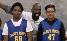 Cadet Hoops Connects with Carteret Community